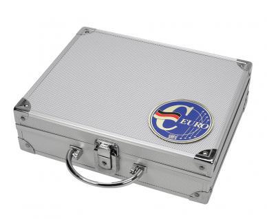 SAFE 279-1 ALU Münzkoffer - Sammelkoffer SMART Deutschland 3D Plakette Für 30 x komplette Euro Kursmünzensätze KMS 1, 2, 5, 10, 20, 50 Cent & 1, 2 Euromünzen in Münzkapseln - Vorschau 2