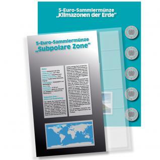 1 x SAFE 7360-5 Premium Münzblatt & Vordruckblatt Deutsche 5 Euromünzen Blauer Planet Erde Subpolare Zone 2020 Edition 2016 - 2021