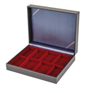 LINDNER 2368-2462E NERA VARIUS Sammelkassetten mit dunkelroter Einlage 2 varaiblen Fächern Für Mineralien - Fossilien - Edelsteine