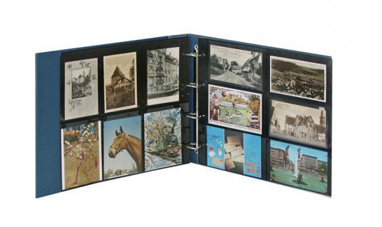 LINDNER 3008-B Postkartenalbum Ringbinder Standard XL Blau + Kassette (leer) zum selbst befüllen - Vorschau 4