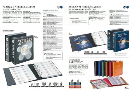 1 x LINDNER MU2E23 Multi Collect Münzhüllen Vordruckblatt 2 Euro Gedenkmünzen Estland 2019 - Deutschland 2019 - Vorschau 3
