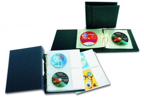 5 x SAFE Compact A4 Ergänzungshüllen Hüllen A4 Für 20 DVD / CD's mit Etiketten - Vorschau 2