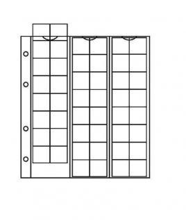 1 x KOBRA F48L Münzblätter Münzhüllen mit 48 Fächern für Münzen bis 17 mm