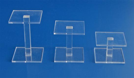 3 x SAFE 5229 ACRYLGLAS Deko Präsentations Vierkantsäulen Ständerchen L 50 x B 50 H 30 / 50 / 70 mm - Für Ihre Sammler - Schätze von A - Z