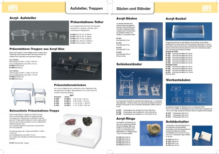 SAFE 5266 ACRYL Präsentations-Treppen Deko Aufsteller 2 Stufen Für Uhren Taschenuhren Armbanduhren Schmuck - Vorschau 5