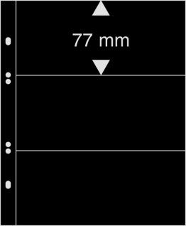 10 x LINDNER MU1313 Schwarze Multi Collect Einsteckblätter 3 Taschen 77 x 253 mm für Briefmarken - Bankoten Papiergeld - Vorschau 3