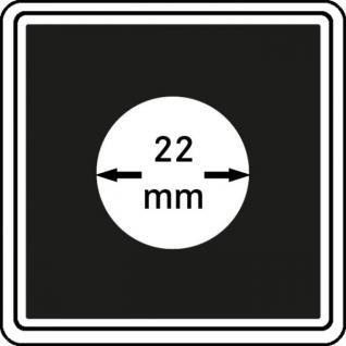 1 x LINDNER 2240022 Münzkapseln / Münzenkapseln CARREE 22 mm Für 10 Pfennig - 20 Cent Euro