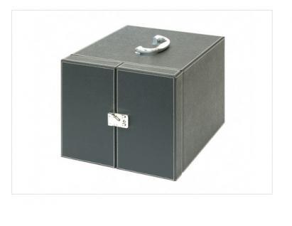 LINDNER 2310 Boxen-Koffer NERA SCHWARZER Münzboxkoffer Koffer Gross (leer) für 10 Münzboxen