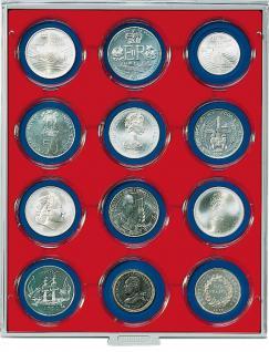LINDNER 2512 Münzbox Münzboxen Standard 12 x 63 mm Münzen in Münzkapseln