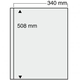 5 x SAFE 6051 Ergänzungsblätter mit 1 Tasche 340x508 mm glasklar transparent Für das ALbum 6055
