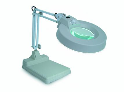 SAFE 9531 Profi Schwenkarm Standtisch Leuchte Lupe mit Linse 125 mm 3x fache Vergrößerung 220 Volt - Ideal für Münzen Briiefmakren Mineralien - Kosmetik - Medizin - Nagelbehandlung