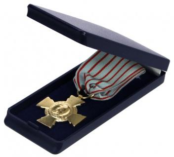 SAFE 7907 Hartschalen Etui Blau mit blauem Samt beflockt 110x50x20 mm Für Orden Militaria