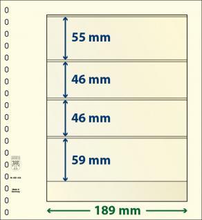 10 x LINDNER 802404P T-Blanko-Blätter Blankoblatt 18-Ring Lochung 4 Taschen 55 / 46 / 46 / 59 x 189 mm