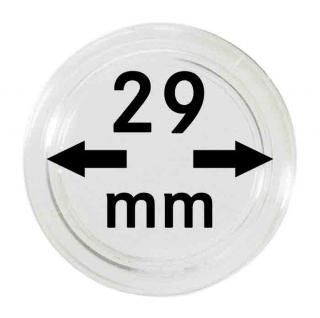 5 LINDNER Münzkapseln / Münzenkapseln CapsulesCaps 29 mm 2250029P