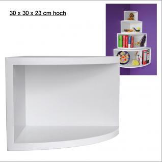 """SAFE 5345 Deko Präsentations Eck-Boards """" Syno Weiss """" M - Medium L 30 x H 30 x T 23 cm - Für alle Ihre Schätze von A - Z"""