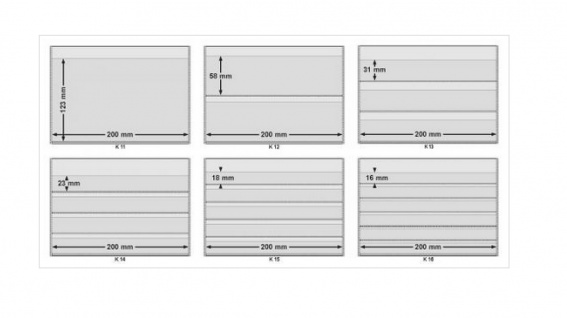 10 x A5 KOBRA K11 Extra starke Kunststoff Einsteckkarten Steckkarten Schwarz Vorderseite 210 x 147 mm mit 1 Streifen 202 x 121 mm - Vorschau 3