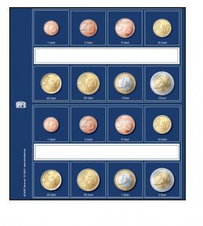 5 x SAFE 1869 Neutrale Vordruckblätter für Euro KMS Kursmünzensätze Für SAFE 8563 Designo Münzhüllen - Ergänzungsblättern - Münzblättern