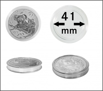 5 x Lindner S2255041P Spezial Münzkapseln Capsules EXTRA HOCH Innen-Ø 41 mm, Innenhöhe 5, 5 mm