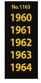 SAFE 1163 SIGNETTEN Aufkleber Jahreszahlen Year dates 1960 1961 1962 1963 1964