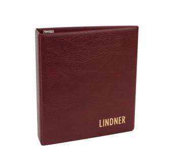 Lindner 1710 UNIPLATE Ringbinder Album Luxus Weinrot Rot mit 3 Ring - Mechanik (leer) zum selbstbefüllen - Vorschau 1