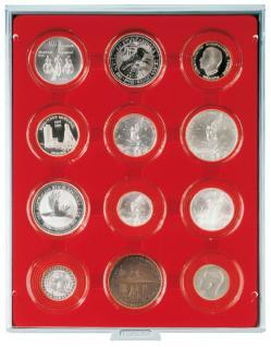 LINDNER 2212 MÜNZBOXEN Münzbox Standard 12 x 58 mm Münzen in Münzkapseln
