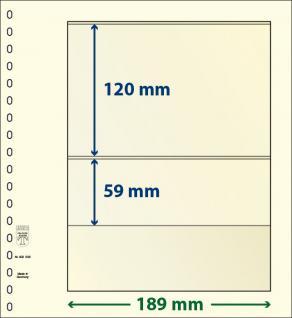 10 x LINDNER 802206P T-Blanko-Blätter Blankoblatt 18-Ring Lochung - 2 Taschen 120 / 59 x 189 mm