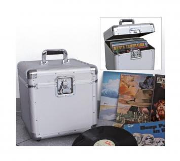 """SAFE 221 ALU Schallplatten - Koffer Schallplattenkoffer Für bis zu 100 Vinyl LP Schellack Platten Langspielplatten 33"""" - Vorschau 1"""