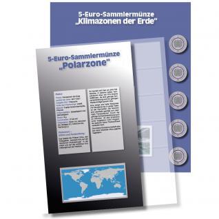 1 x SAFE 7360-6 Premium Münzblatt & Vordruckblatt Deutsche 5 Euromünzen Blauer Planet Erde Polare Zone 2021 Edition 2016 - 2021