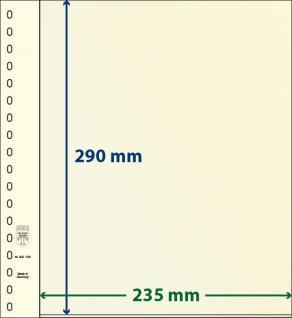 1 x LINDNER 802106 T-Blanko-Blätter Blankoblatt 18-Ring Lochung - 1 Tasche 290 x 235 mm
