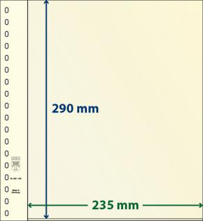 1 x LINDNER DT802106 DT-Blanko-Blätter Blankoblatt 18-Ring Lochung - 2x 1 Tasche 290 x 235 mm