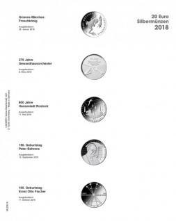 1 x LINDNER MU20E18 Multi Collect Münzblätter Münzhüllen Vordruckblatt Deutsche 20 Euro Gedenkmünzen 2018