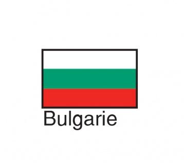 1 x SAFE 1175 SIGNETTE Flagge Bulgarien - Bulgarie - Bulgaria Aufkleber Kennzeichnungshilfe - selbstklebend