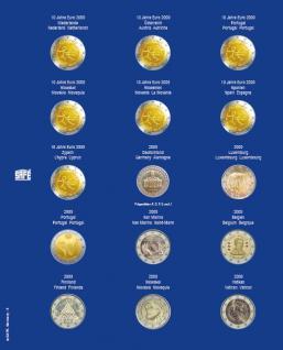 1 x SAFE 7822-5 TOPset Münzblätter Ergänzungsblätter Münzhüllen Münzblatt mit farbigem Vordruckblatt für 2 Euromünzen Gedenkmünzen 2009