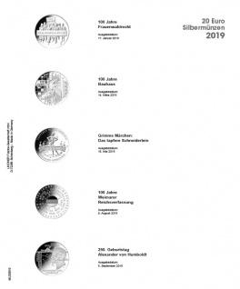 1 x LINDNER MU20E19 Multi Collect Münzblätter Münzhüllen Vordruckblatt Deutsche 20 Euro Gedenkmünzen 2019