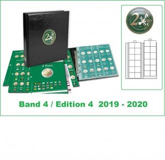SAFE 7341-B4 PREMIUM 2 EURO MÜNZALBUM farbiges + 3x farbige Vordruckblätter + 3x 7392 Band 4 2019 - 2020 von Andorra - Zypern