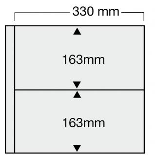 1 x SAFE 6015 Ergänzungsblätter WEISS 2 rechteckige Taschen 330 x 163 mm waage. für 4 Sammelobjekte