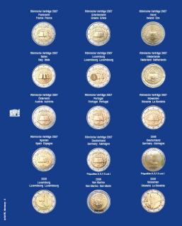 1 x SAFE 7822-3 TOPset Münzblätter Ergänzungsblätter Münzhüllen Münzblatt mit farbigem Vordruckblatt für 2 Euromünzen Gedenkmünzen 2007
