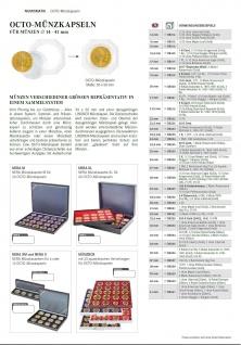 2 x Lindner OS021 OCTO Münzkapseln Set + 2 Münzenkapseln 21 mm Innendurchmesser für 50 Pf. 1/4 Unze Maple Leaf Nugget Känguru Gold - Vorschau 2