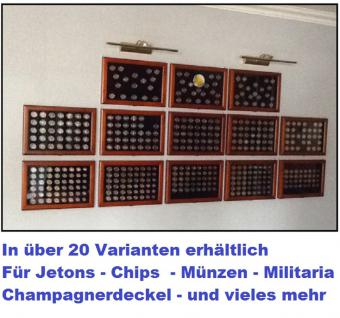 SAFE 5909 Holz Münzvitrinen Vitrinen 35 Fächer bis 35 mm Deutsche Für 5 DM Gedenkmünzen in Münzkapseln 29 - Vorschau 3