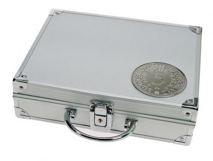 SAFE 235 ALU Sammelkoffer SMART BR. Deutschland mit 5 DM 3D Plakette - leer für alles was gesammelt wird von A - Z