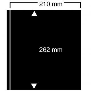10 SAFE 421 Einsteckblätter Compact A4 CLIPFIX mit 1 Klemmstreifen 210 x 262 mm Für Banknoten Blocks Briefe Briefmarken Postkarten