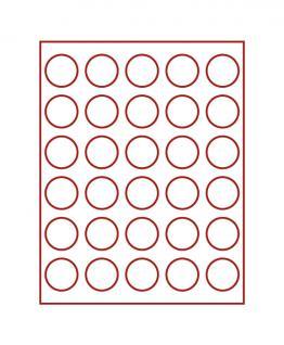 LINDNER 2706 MÜNZBOXEN Münzbox Rauchglas 30 Münzen 39 mm Ø 1 Unze Meaple Leaf Silber 3 & 10 Rubel - Vorschau 1