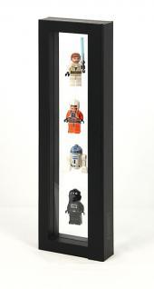 LINDNER 4832 NIMBUS 265 Schwarz Sammelrahmen Schweberahmen Objektrahmen 3D 265x60x25 mm Für Lego Mni Figuren Star Wars usw.