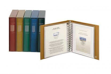 LINDNER 1103E - H - Hellbraun Braun ETB - Album Ringbinder Classic + 20 Klarsichthüllen 819 Für Ertstagsblätter - Vorschau 1