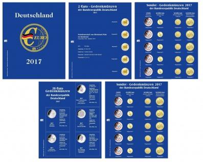 SAFE 5414-17 Nachtrag PREMIUM DEUTSCHLAND EURO 4 Münzblätter + Vordrucke 2017