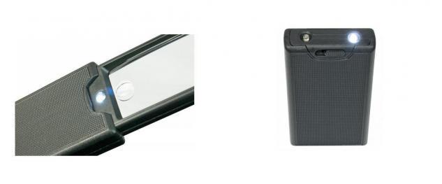 Lindner S7134 LED Taschen-Leuchtlupen Schiebelupe 2, 5x fache Vergößerung mit UV - LED Taschenlampe - Vorschau 2