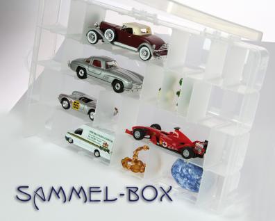 SAFE 5251 Transparente Sammelboxen Setzkasten Kunststoff variable Facheinteilungen 350 x 220 x 50 mm