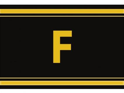 """1 x SAFE 1130 SIGNETTE Aufkleber Buchstabe selbstklebend - """" F """""""