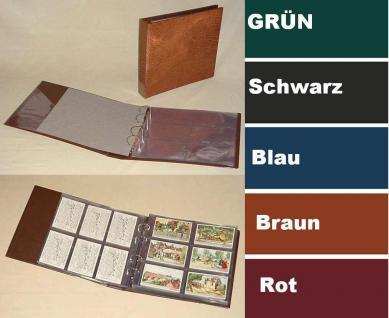 KOBRA G40 Grün Liebigbilder Album Sammelalbum Ringbinder + 10 Hüllen G46E / G47E Für bis zu 120 Sammelbilder Reklamebilder Liebigbilder - Vorschau 1