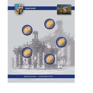 1 x SAFE 7821-4 TOPset Ergänzungsblatt Münzhüllen für 5x 2 Euromünzen Deutsche Bundesländer Saarland 2009